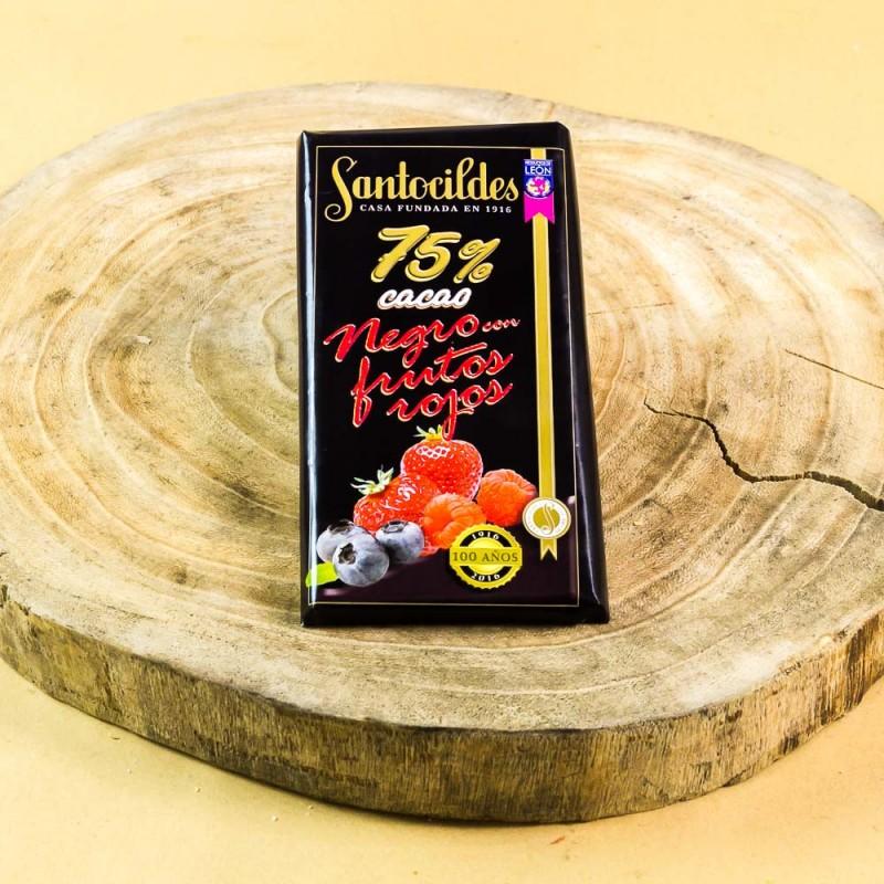 Comprar el mejor Chocolate Santocildes Negro 75% con Frutos Rojos