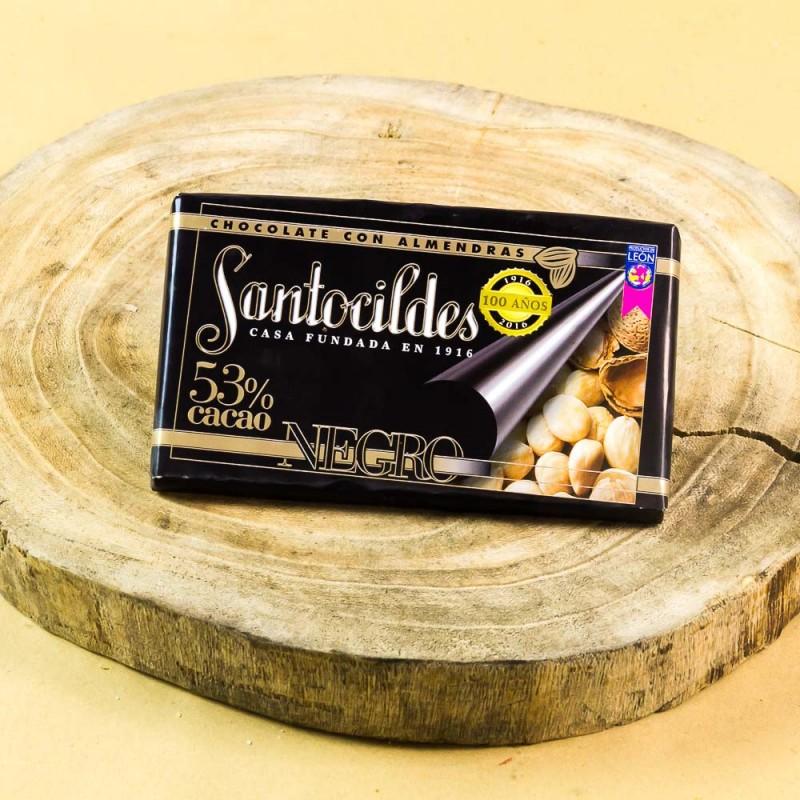 Comprar el mejor Chocolate Santocildes Negro 53% con Almendras