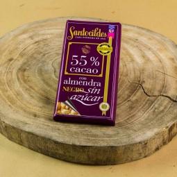 Comprar Chocolate Santocildes Negro 55% Sin Azucar Con Almendras